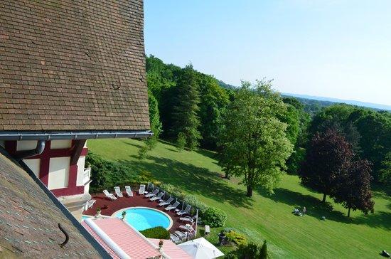 Le Chateau de la Tour : Vue sur le parc et la piscine