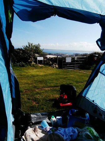 Ayr Holiday Park : The view from our tent in the morning.