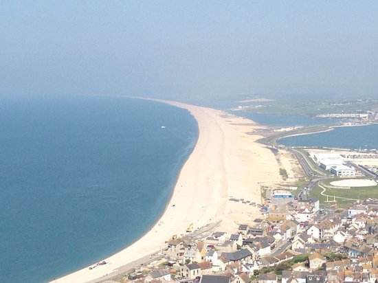 Portland Plateau: View point of Chesil Beach from Portland