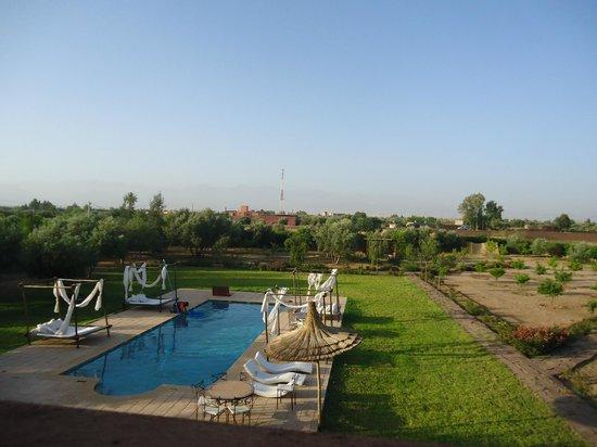 Riad Couleur Sable : piscine vue d'en haut