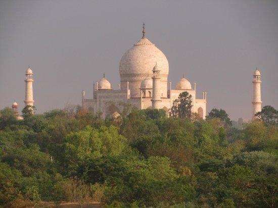 The Oberoi Amarvilas: Le Taj Mahal vu de notre chambre