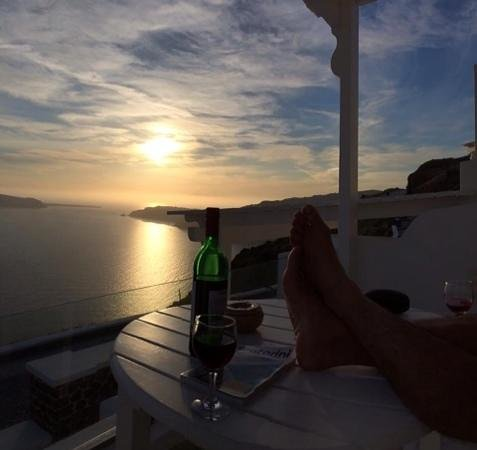 Santorini Princess: sunset from our room