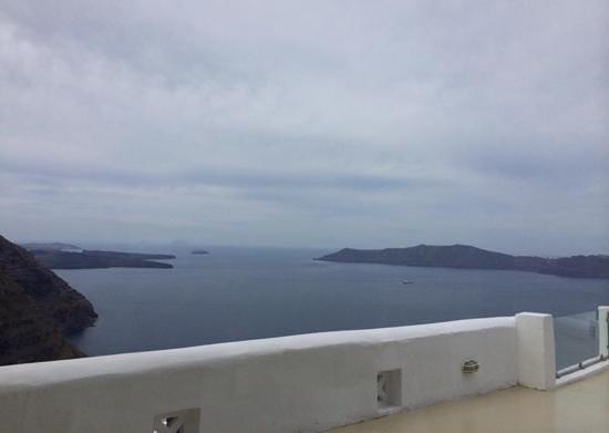 Santorini Princess: view while having breakfast