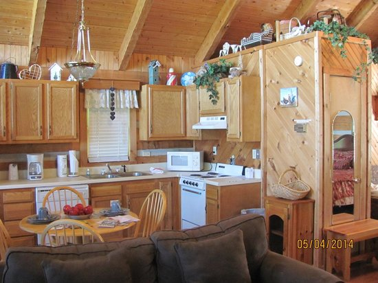 Smoky Mountain Lodging: the kitchen area