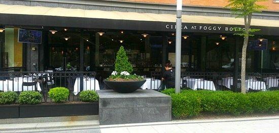 CIRCA at Foggy Bottom: Circa Restaurant - the front patio