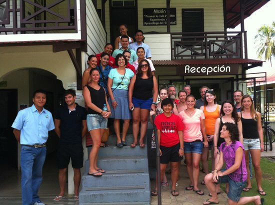 Habla Ya Spanischschule, Campus Bocas del Toro: Hablaya Teachers and Students. Class of March 2014