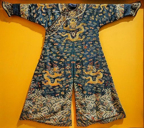 Pacific Asia Museum : Jifu Man's semi-formal court robe Qing Dynasty 19th century CE