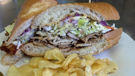 The Perfect Pear : Big Fat Jerk Po'Boy Special