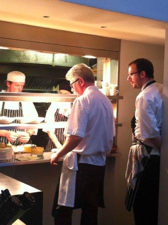 Tannery Restaurant: Hard at work!