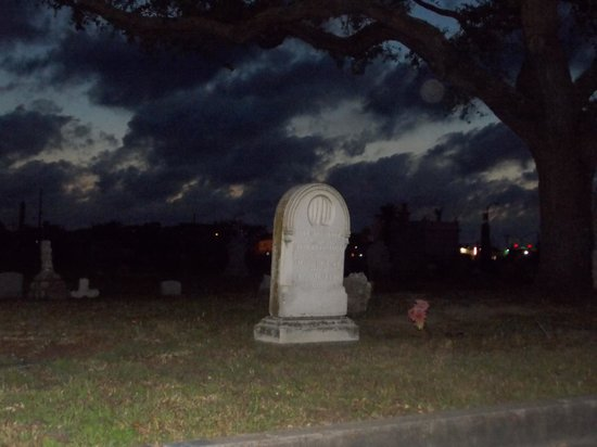 Ghost Tours of Galveston: Orb under tree branch