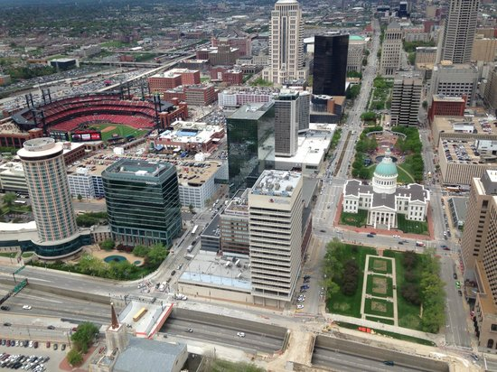 from top of Gateway Arch