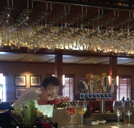 Doolittles Woodfire Grill: Justin, our fabulous and attentive waiter ��