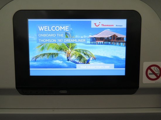 Ambre Resort & Spa: Standard Seat Dreamliner Entertainment