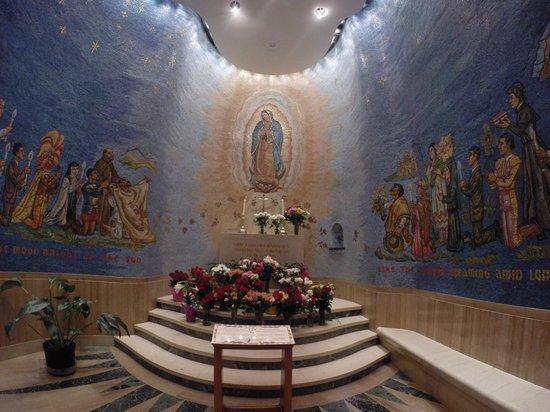 Basilica of the National Shrine of the Immaculate Conception: todas estas imagens na parede são de mosaico - impressionante