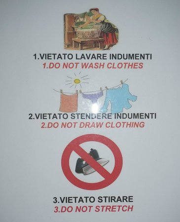 Hotel Centrale: In the room, you'll find many signs what you must not do