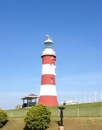 Plymouth Hoe: smeatons tower, you need to be fit and thin to get to the top!