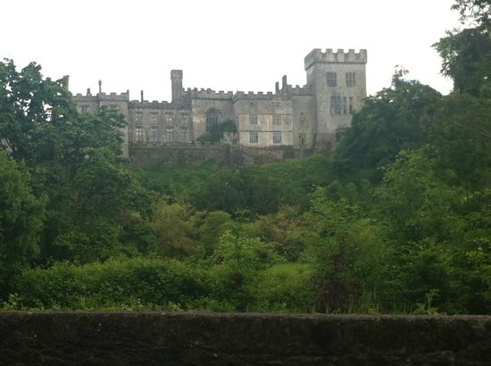 Lismore Castle Gardens: Lismore from River view