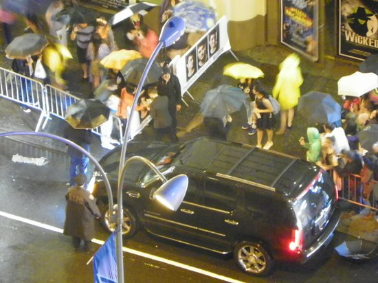 Radio City Apartments: a view of an actor (Daniel Radcliffe) leaving Cort theater