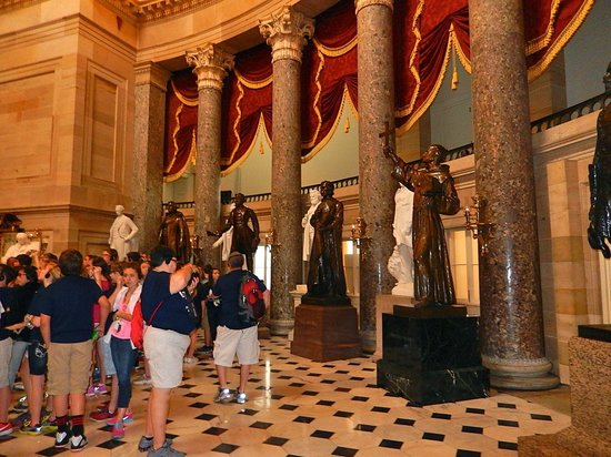 U.S. Capitol: Magnificent room with Statues