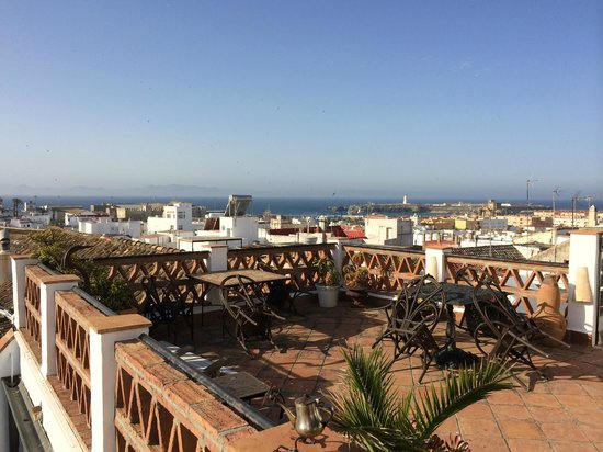Dar Cilla: View from roof terrace to Morocco