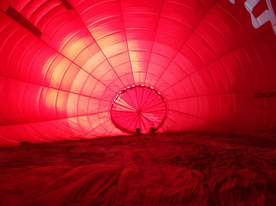 Virgin Balloon Flights: Inside balloon