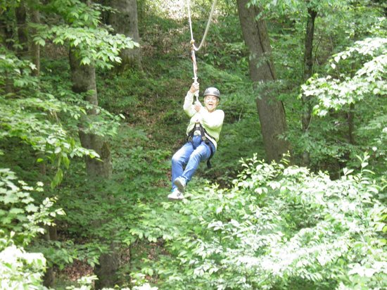 Adventureworks Zip Line Tours: Mom (71yrs old) loved Zip lining!!!!