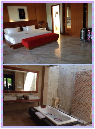 Abi Bali Resort & Villa : Bedroom and bath room