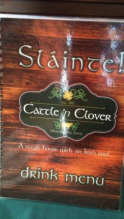 Cattle 'n Clover Irish Pub and Steak House: tasty beverages