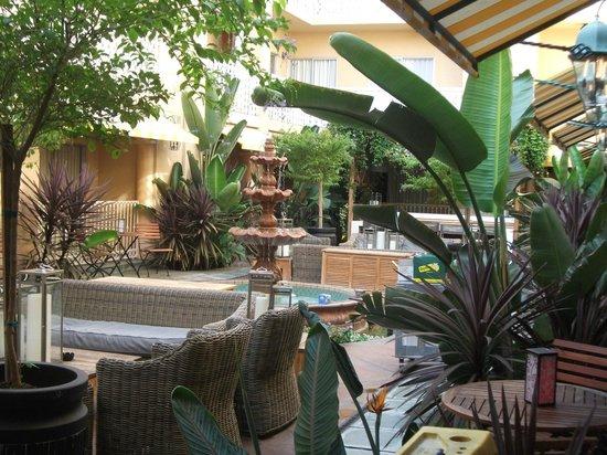 Hollywood Hotel: Terrasse de l'hotel