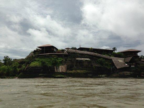 La Casa del Suizo: View as you approach on canoe