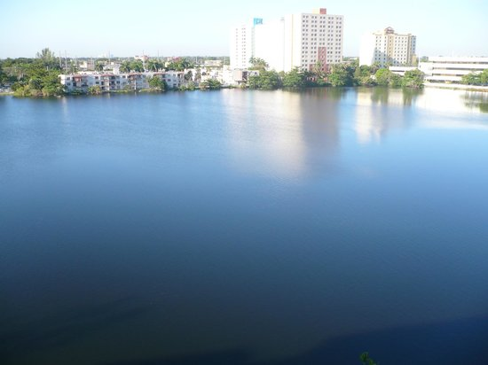Homewood Suites Miami-Airport / Blue Lagoon: The Blue Lagoon outside our window