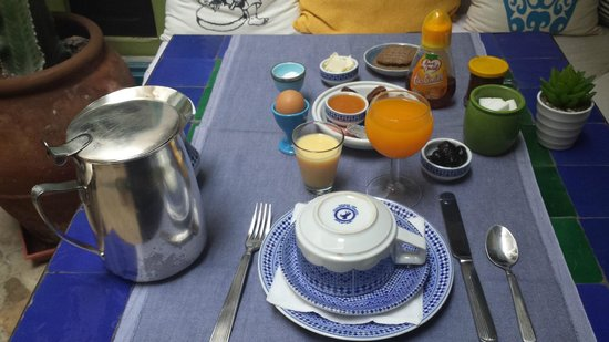 Riad Les Lauriers Blancs: complimentary Breakfast