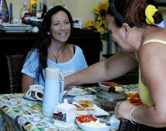 Casa Particular Delia : cafe da manhã - Desayuno
