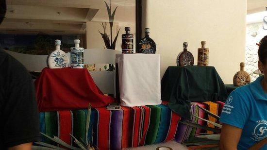 Canto Del Sol Plaza Vallarta: Tequila tasting event in Lobby Bar