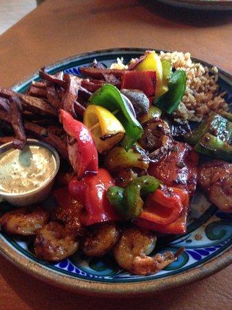 Las Palapas Resort Grill: Shrimp Adobo