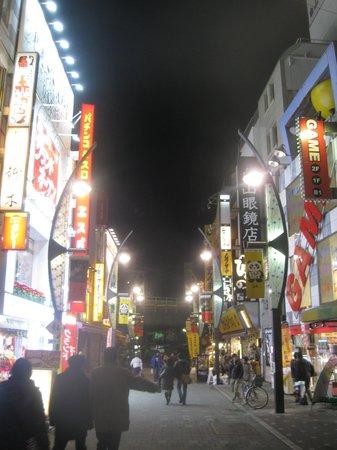Ueno shopping arcade