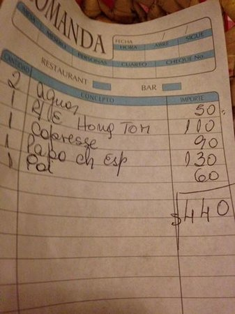 PapaCharly Pasta Factory: our bill.  reasonable.