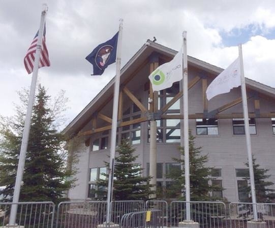 Park City, UT: US, Utah, Olympic flag, Olympic team training flag