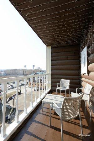 Kupechesky Dvor Hotel: Балкон в номере Полулюкс с балконом