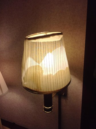 Howard Johnson Inn And Conference Center Salem : Melted lampshade