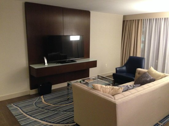 Marriott Marquis Washington DC Living Room With FirePlace