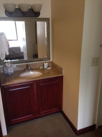 Staybridge Suites Savannah Historic District: Basin is in room not in bathroom