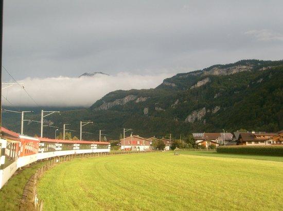 Reichenbach Falls : Zug in Meiringen