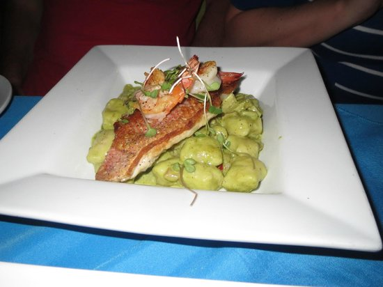 Bili: Snapper with Cassava Gnocchi and Cilantro Cream
