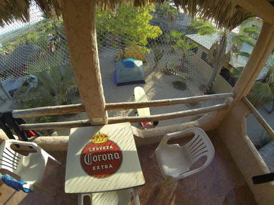 Pescadero Surf Camp: The Penthouse overlooking surf camp Pescadero Baja