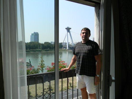 Hotel Devin: Из номера прекрасный вид на Дунай