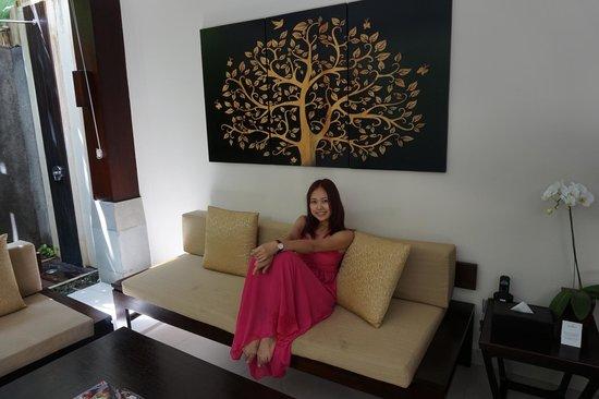 Tanadewa Luxury Villas & Spa: View from living hall