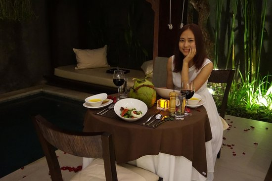 Tanadewa Luxury Villas & Spa: Dinner