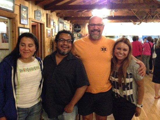 Yosemite Bug Rustic Mountain Resort : Owner Douglas stopping by to say hi