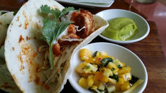 Sea Circus: I picked the spicy prawn taco with mango salsa and guac. This was PERFECT.